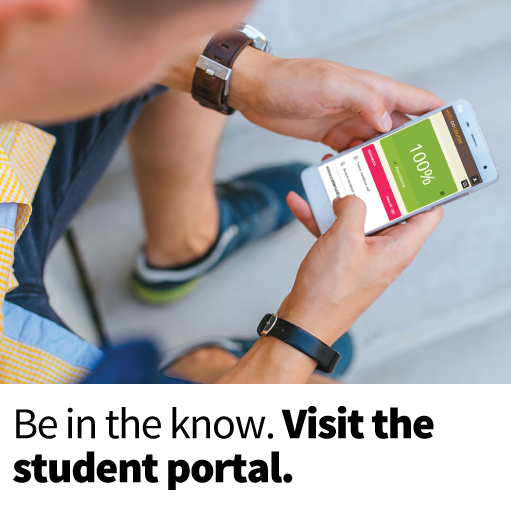 Visit the student portal