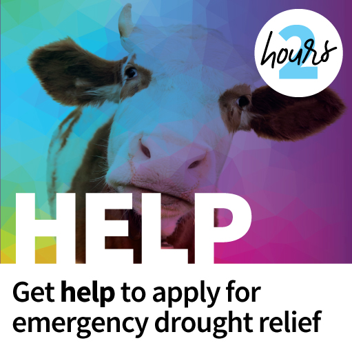 Get help to apply for emergency drought relief